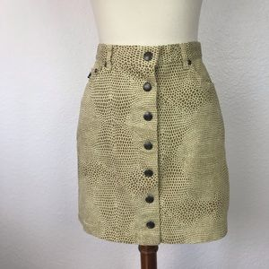Cavalli Jeans Print Button Front Skirt SK161